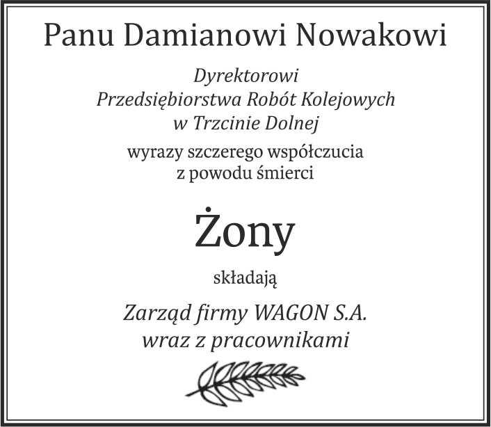 kondolencje Głos Wielkopolski